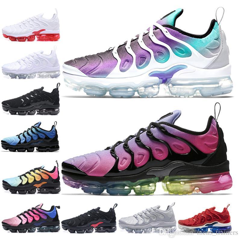 low priced 95fd6 079ed Compre Nike Air Vapormax Plus Venta Barata Tn Plus Hombres Zapatillas De  Deporte Red Volt Cool Grey BE TRUE Trainer Para Hombre Calzado Deportivo  Negro ...