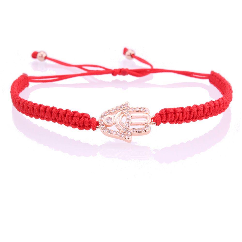 blue CZ evil eye charm bracelet greek turkey eye zircon red black string macrame homemade bracelet for woman man femme bijoux or