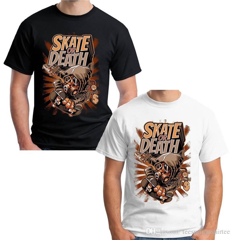 9d36beb2d45c Cool T Shirts Designs Best Selling Casual Skate Or Death Men Short Tee  Shirts T Shirts Cheap T Shirts Vintage From Teespringsshirtee, $11.0   DHgate.Com