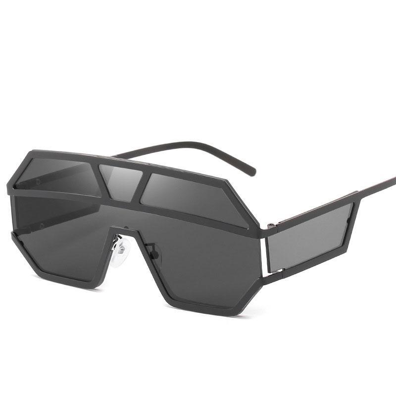 fe022245091cc Compre Novo 2019 Piloto Praça Óculos De Sol Dos Homens Da Marca Designer De  Armação De Metal Óculos De Sol De Grandes Dimensões Para As Mulheres Top  Fashion ...