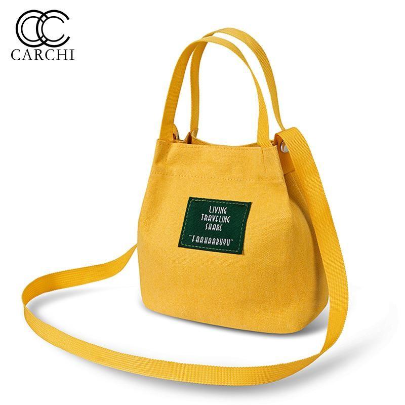 e6f47942a2b2 CARCHI Casual Women Handbag Lunch Bag Hot Sale Fashion High Quality Canvas  Striped Handbags Shoulder Bag Ladies Tote Bolsas Online with  28.74 Piece on  ...