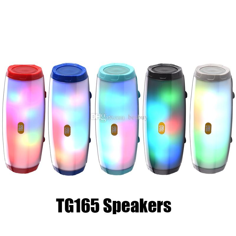 TG165 Bluetooth Speaker LED Flash portatile stereo Audio Player audio Hi-Fi Subwoofer Speaker bassi profondi 1200mAh Music Box