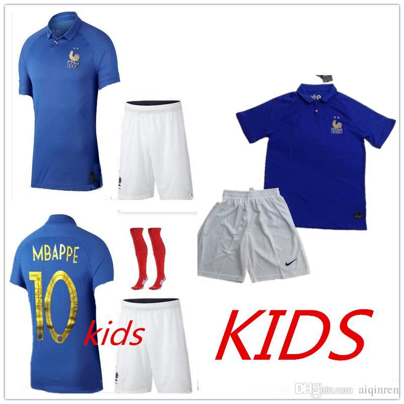 a3737f93c Kids Kit France 1919 2019 Special Edition Centenary Soccer JerseyS ...