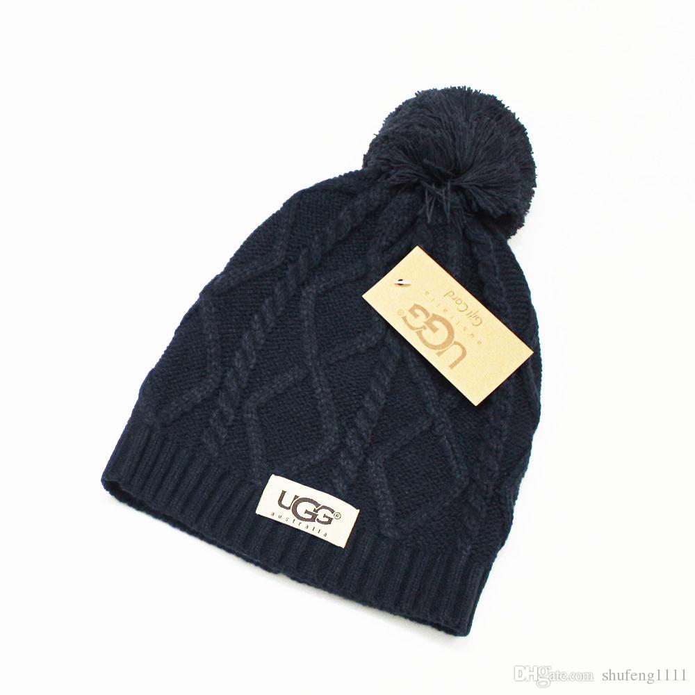 6665baec21a0d New Brand Beanies Knitted Hat Designer Champion Winter Warm Thick Beanie  Fedora Gorro Bonnet Skull Hats for Men Women Crochet Skiing Cap Hat Brand  Beanie ...