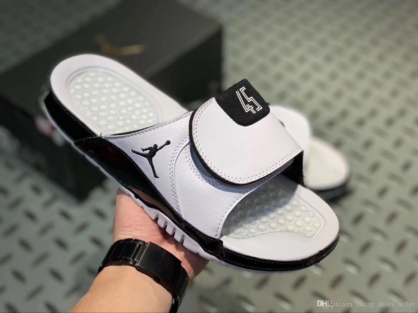competitive price 8cfe6 ae3bd Jumpman Concord 45 11 designer sandals Mens 13s slides HYDRO Summer Flat  Basketball Shoes White black RETRO women Beach Slipper Flip Flop