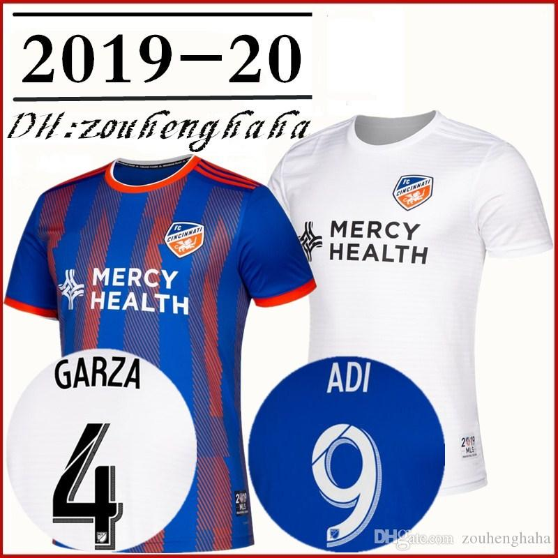 the best attitude ada1b a200d 2019 2020 Cincinnati FC Primary Replica Soccer Jersey 19 20 Waston Adi  Mattocks Garza Alexander Albadawi Bertone Cruz home football shirt