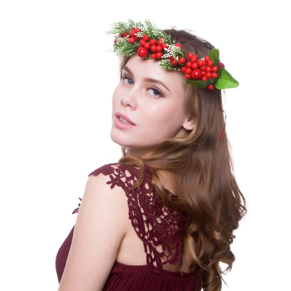 2018 New Fashion Women Flowers Diadem Hair Accessories Flower Crown Bridal Floral  Headband Girl Wreath HairBands Women Hair Accessories Womens Hair Clips ... 359f29992dd