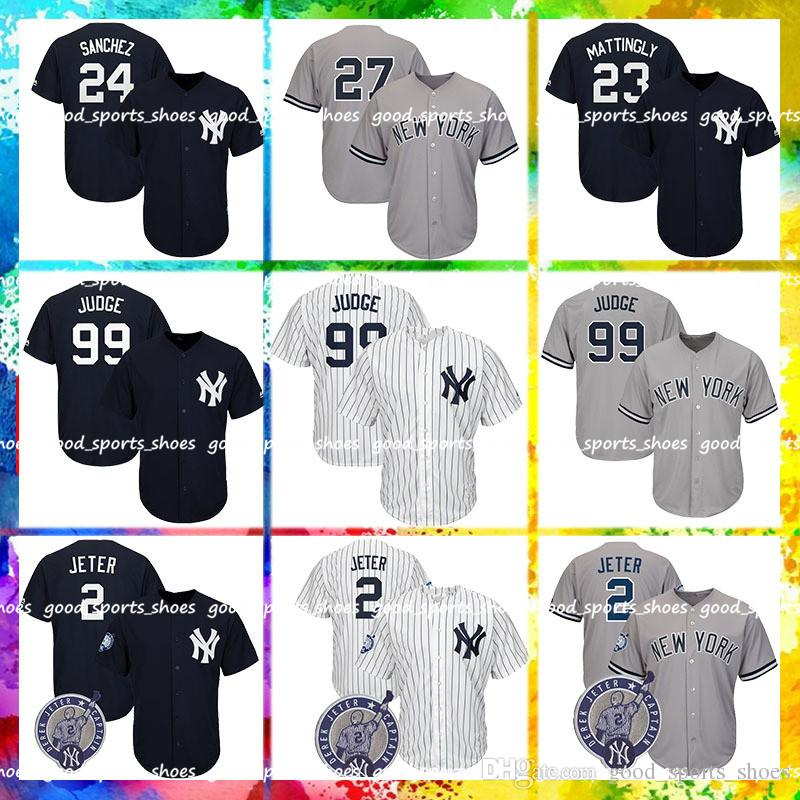 679ad62c3323 2019 New York Yankees Majestic Coolbase Jersey 99 Aaron Judge Jersey 2  Derek Jeter 3 Babe Ruth 23 Don Mattingly 24 Gary Sanchez 42 Mariano Rivera  From ...