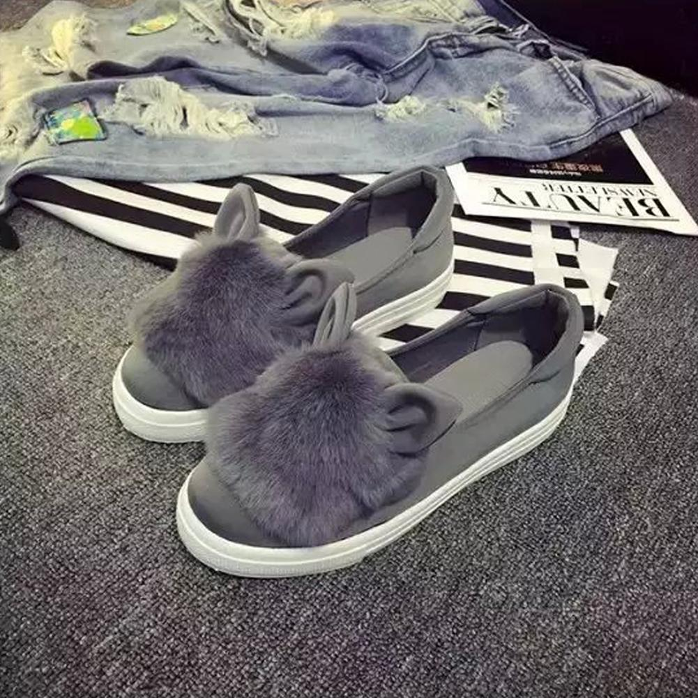09060300f Home Leisure Non Slip Ladies Shoes Flats Woman Shoes Loafers Suede Style  Cute Cat Ears Flats Ladies Shoes Loafers For Men From Viceokae, $23.0   DHgate.Com
