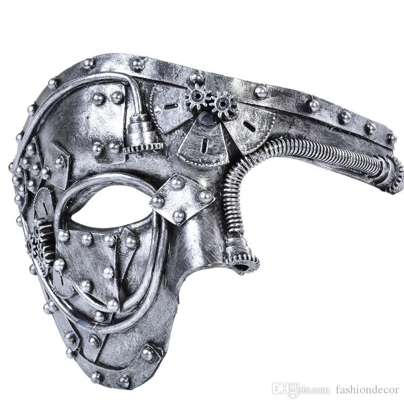 New Arrival Costume Mask Vintage Steampunk Half Face Halloween Party Masquerade Dating Cosplay Show Dance Prom Mask