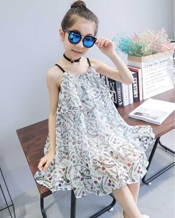 7fa895773cecf Summer Holiday Dress Baby Girl 2019 New Beach Infant Kids Dresses for Girls  Costume A-Line Cotton Cute Children Clothing 6ds366