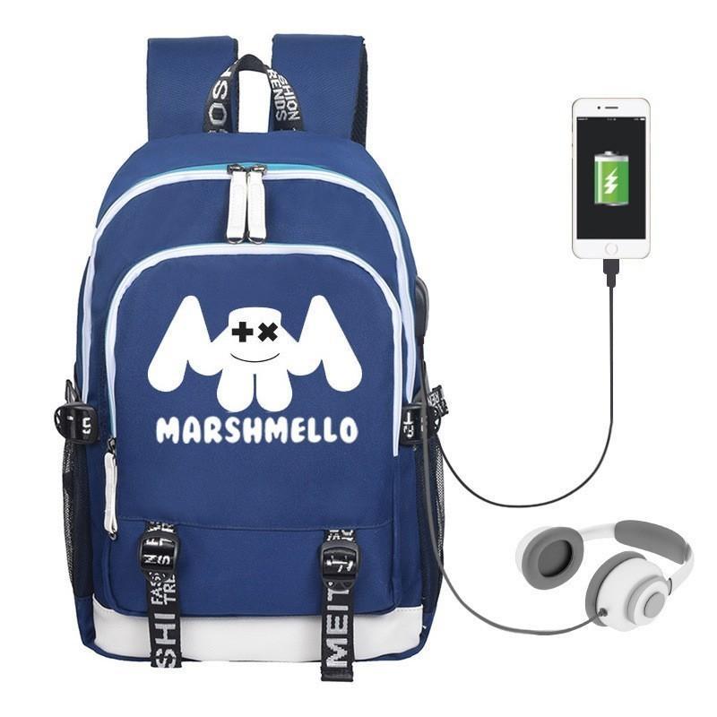 5f72e7683725db Compre Novo Mistério Americano DJ Marshmello Escola Saco Na Moda Usb  Mochila Para Meninas Meninos Adolescentes Crianças Legal Bookbag De  Qianbag, ...