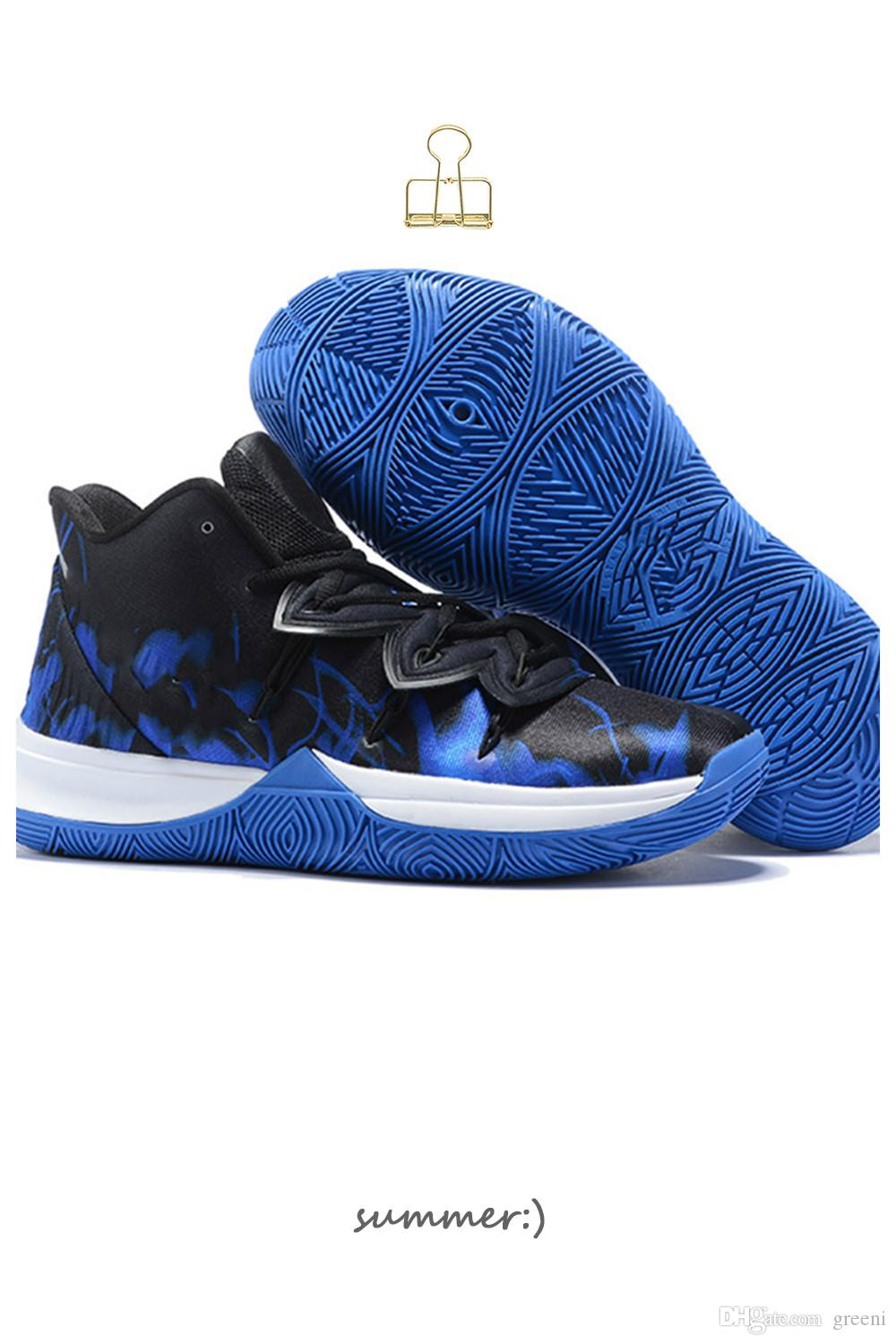 7a3785166746 2019 Hot Sales Kyrie 5 Duke Shoes For Men Irving 5 Man Basketball Shoes CI0306  901 Game Royal Black Designer Sneakers With Box US7 US12 From Greeni