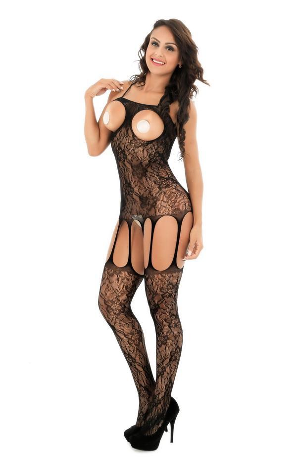 7027 النساء السود مثير انظر من خلال الملابس الداخلية الجسم جوارب الملابس الداخلية جوارب طويلة
