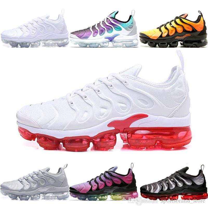 newest f42b5 fa4d9 Acheter Nike Air Vapormax Plus Shoes Hot Plus Triple Black USA Baskets  Grape Volt Hyper Violet Sport Sneaker Hommes Femmes Designer Rouge Blanc  Cool Grey ...