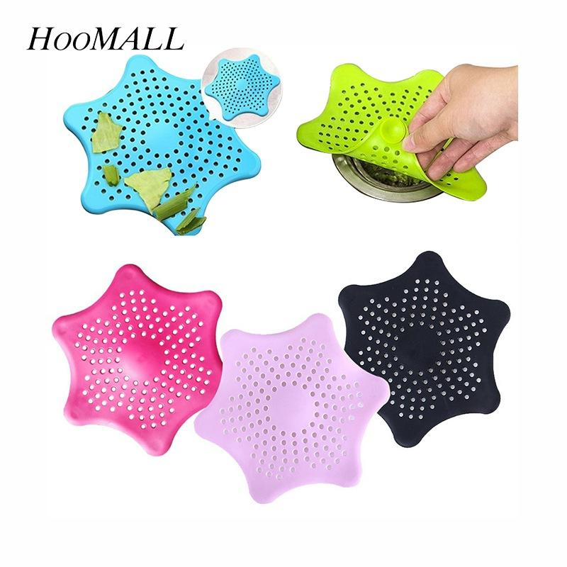 heap Other Utensils Hoomall 1PC Cleaning Kitchen Supplies Kitchen Silicone Sink Drain Filter Star Bathroom Bathtub Hair Catcher Stopper T...
