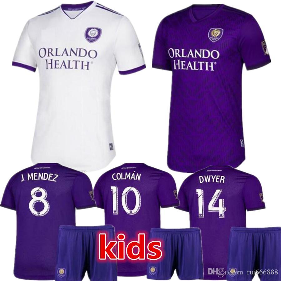 new style b314f 83a41 2019 MLS Orlando City Soccer Jerseys #17 NANI Orlando City Home purple  Soccer Shirt 2019 #8 J.MENDEZ Football Uniform Size S-XXL