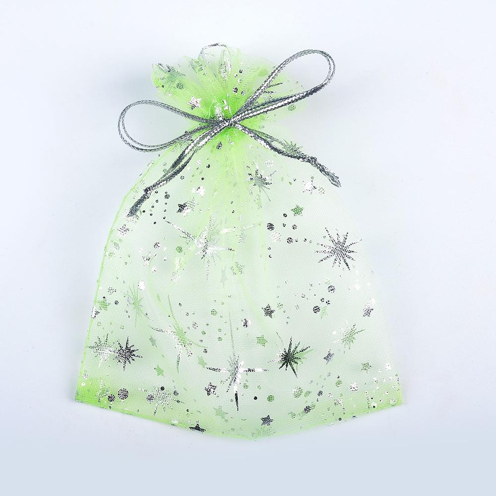LUBINGSHINE Organza Gift Bags Strap Drawstring Candy Pouches Wholesale Jewellery Packaging With Star 9*12 cm