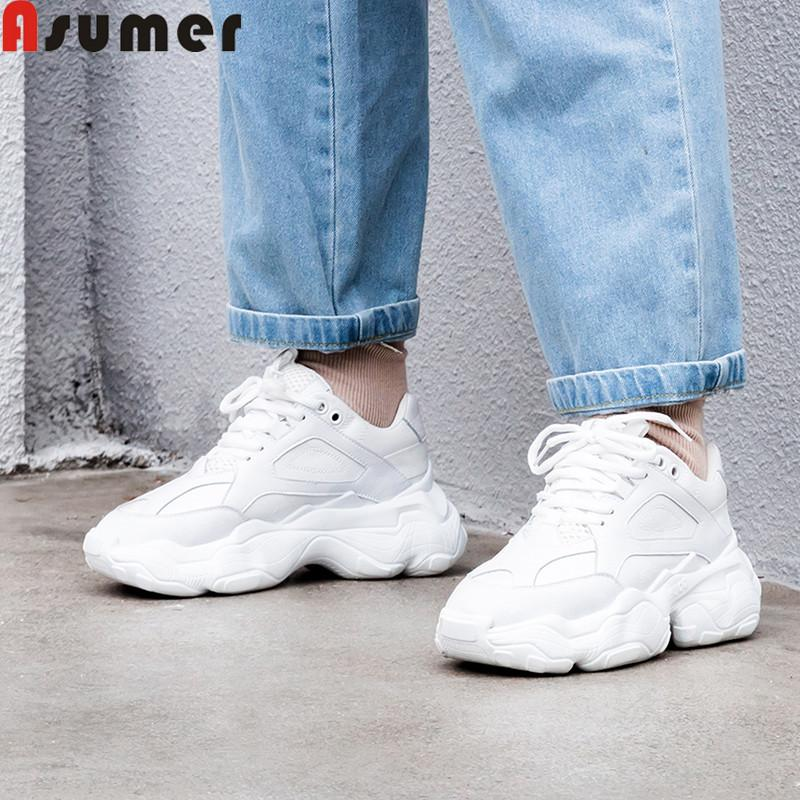 5393871f1e4 ASUMER Big Size 35-42 Fashion Spring Autumn New Shoes Woman Round ...