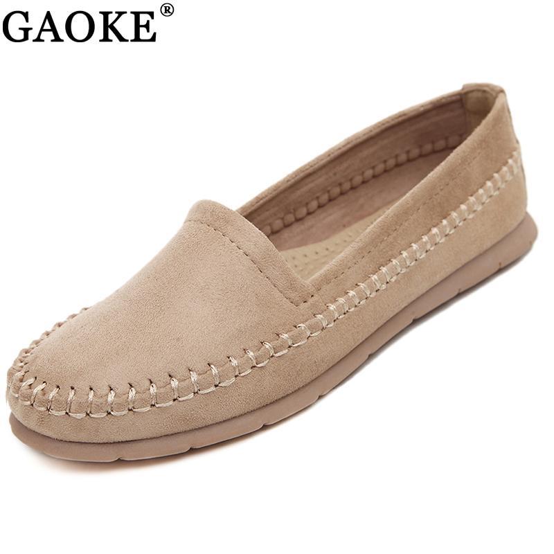 Mocasines Mujer Punta Blandos Sin Zapatillas Redonda Casual Cordones Mujeres Pisos De Zapatos Para Damas Conducción L54R3Aj