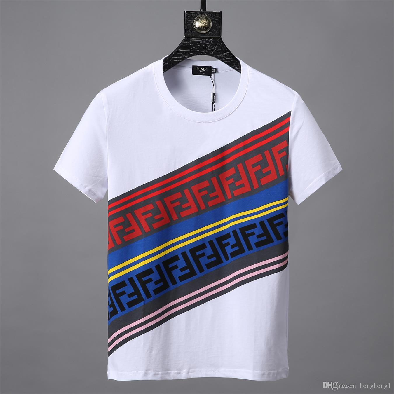 06e7f2134ff 2019 Best Sellers Mens Designer T-shirts Summer New Letter Pattern Printing T-shirt  Men Luxury Shirt. 2 T-shirt Online with  33.41 Piece on Honghong1 s ...