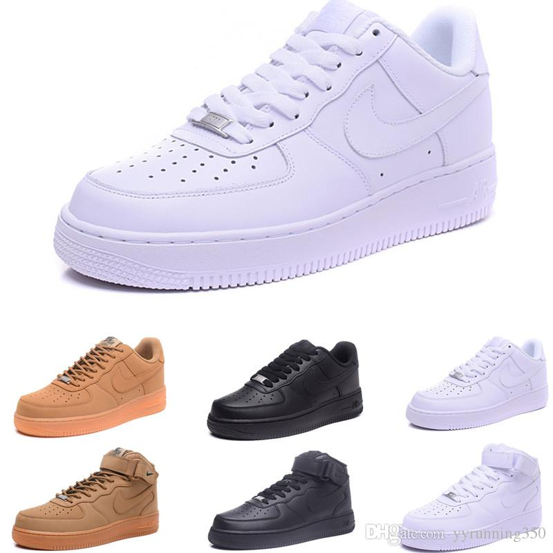 nike air force 1 one Utilidad barata Clásico Negro Blanco Dunk Hombres Mujeres Zapatos Casuales red one Sports Skateboard High Low Cut Wheat