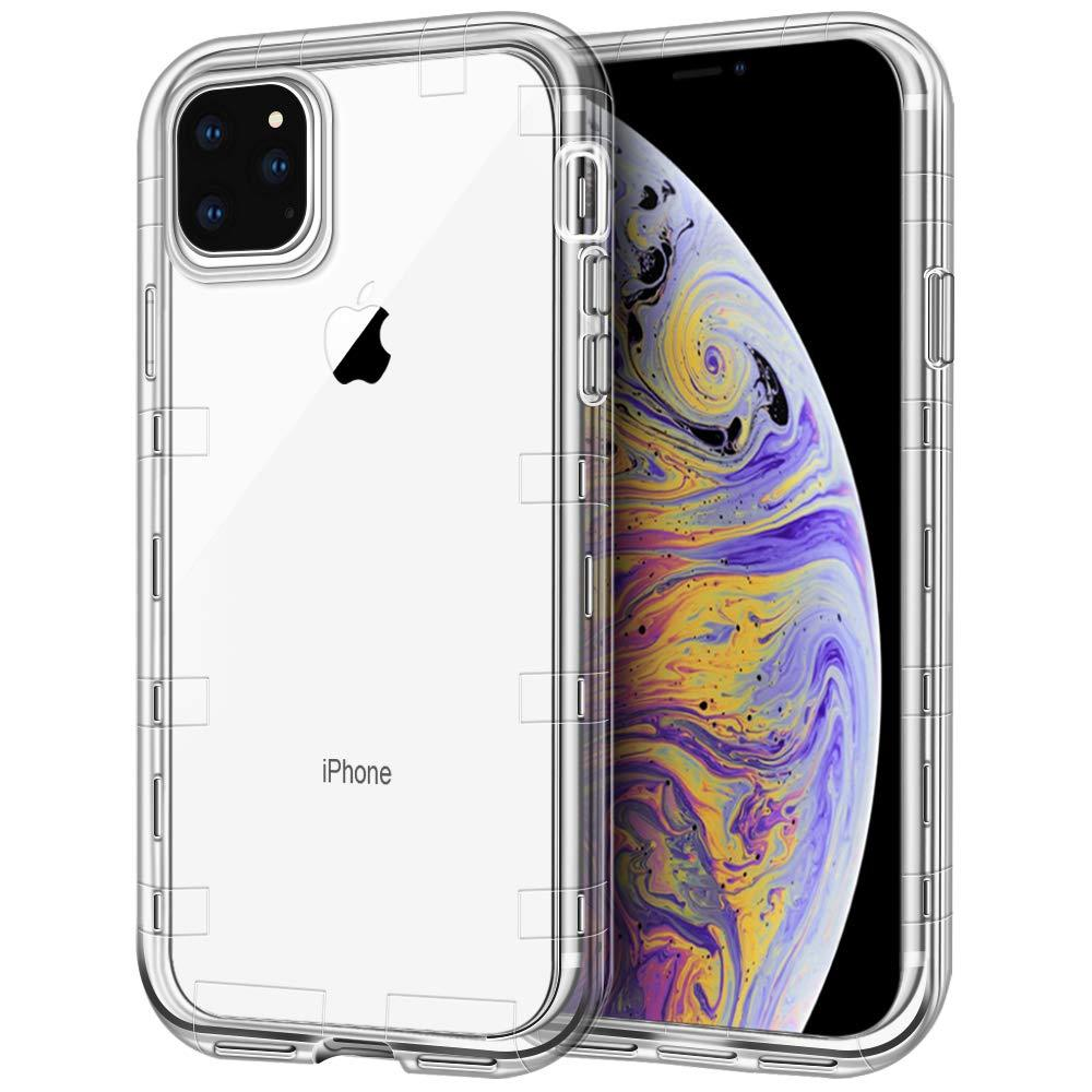 Per la cassa del telefono Iphone 11 Case Cover trasparente 3in1 Heavy Duty Full-corpo di protezione per iPhone Pro 11 Max