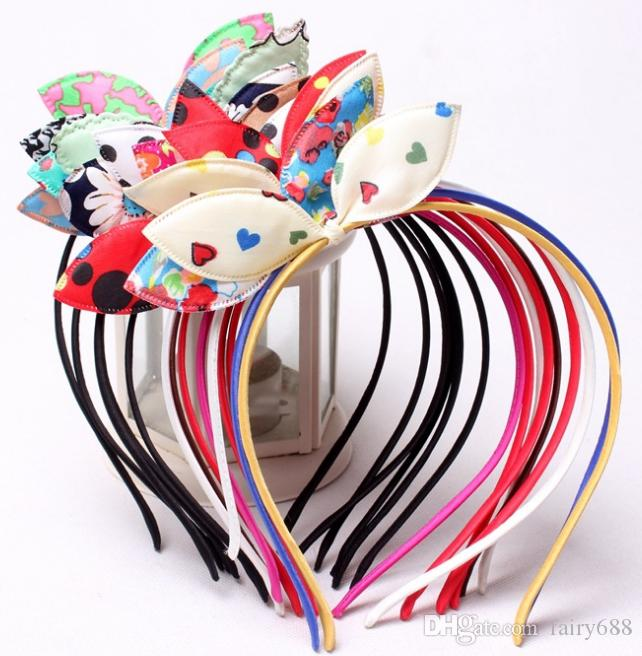 New Children's card Korean version of girls hair ornaments rabbit ears children hair hoop bow head hoop