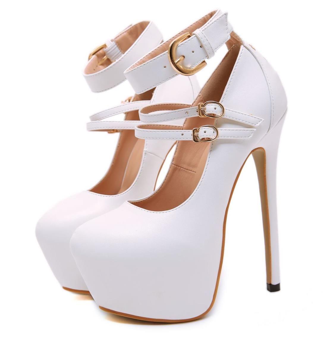 17cm avec boîte mode plate-forme de bout rond blanc ultra hauts talons pompes de mariée designer chaussures de mariage des femmes de créateurs de luxe de la mode chaussures
