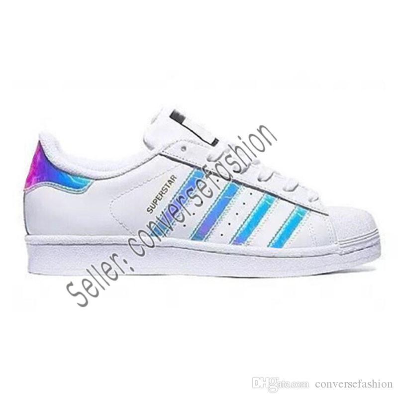 super popular 21755 b2710 Compre 2019 Adidas Hot Cheap Superstar 80S Hombres Mujeres Zapatos De  Baloncesto Ocasionales Zapatos De Skate Rainbow Splash Ink Moda Zapatos  Deportivos ...