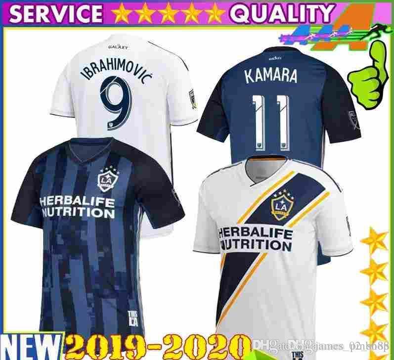 ce4222b4305 2019 2019 2020 Thailand MLS La Galaxy Zlatan IBRAHIMOVIC Soccer Jerseys 19  20 Los Angeles Galaxy Away Blue GIOVANI J.DOS SANTOS Football Shirts From  ...