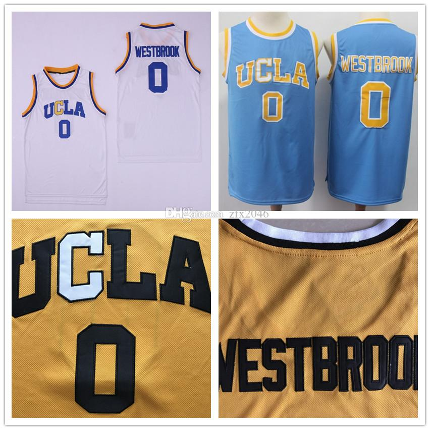 huge discount 6c610 fab9d NCAA UCLA Bruins 0 Westbrook jersey Russell #2 Lonzo Ball White Blue  Basketball Jerseys College Shirts Stitched patches embroidered