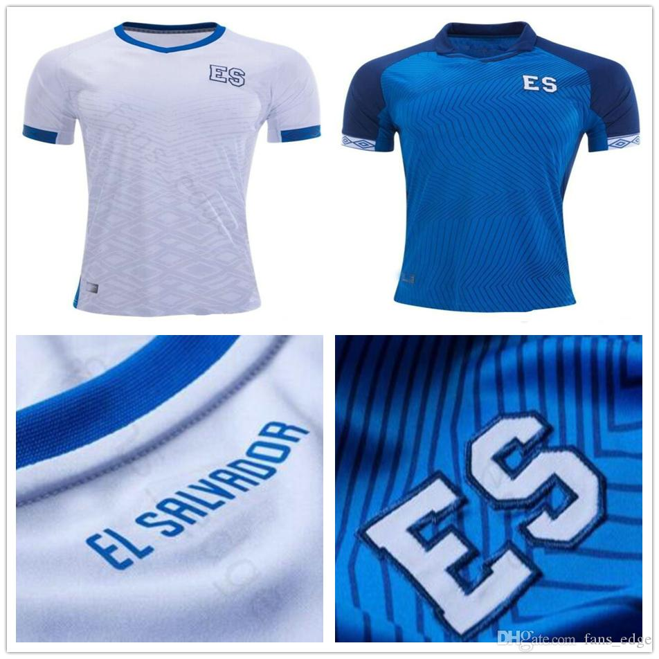 detailed look 70458 e7702 2019 Gold Cup National Team El Salvador Soccer Jerseys 8 PJANIC Custom Any  Name Number Home Away Blue White Football Jersey Shirt