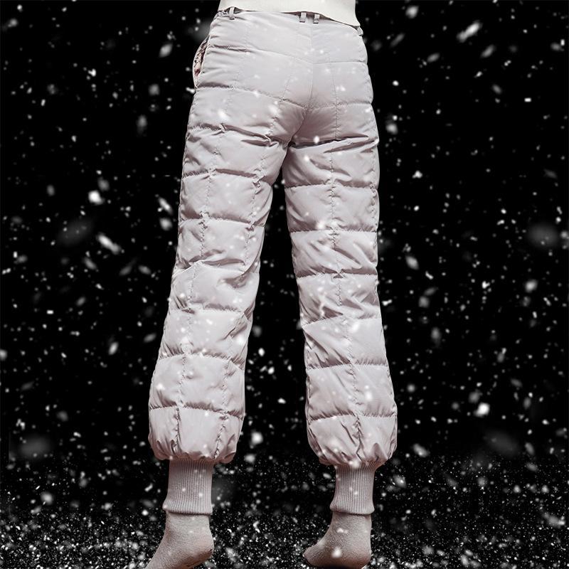 b282ee7b6ac 2019 M 5XL Plus Size Winter Women White Duck Down Bloom Pants Outdoor Men  Warm Waterproof Windproof Trekking Hiking Camping Trousers From Teawugong