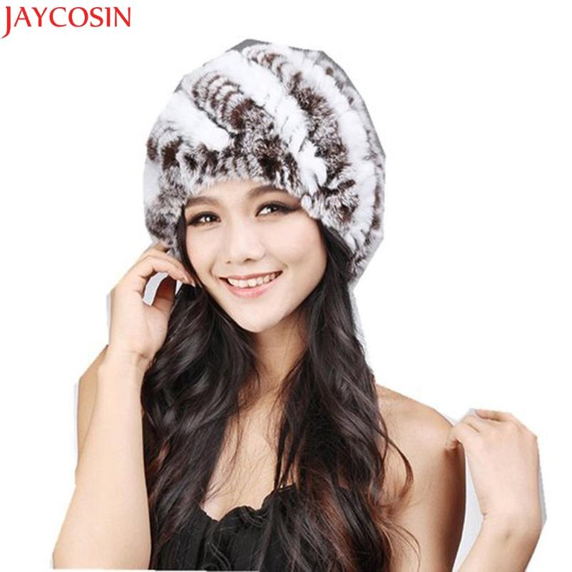3a102f31b9f 2019 Jaycosin Elegant Womens Winter Rabbit Fur Hat Female Fall Women Hats  Handmade Warm Caps Female Headgear C114 From Shanquanwat