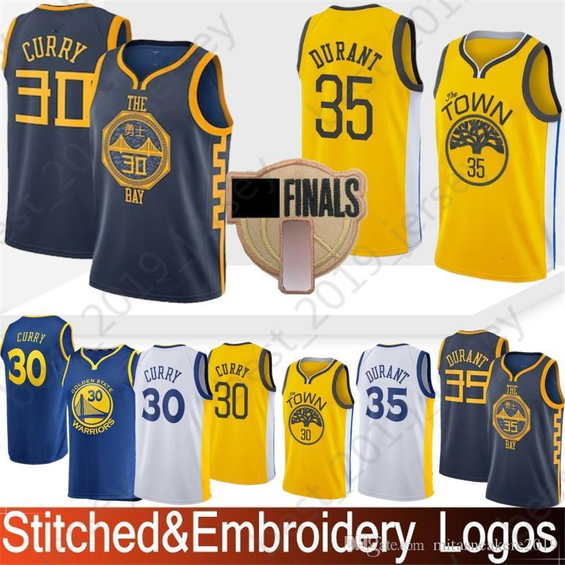 best service de6d4 08dc4 Golden 30 Curry Stephen Warriors Jersey State 35 Durant Kevin 23 Green  Draymond 11 Thompson Klay 9 lguodala Andre Basketball Jerseys