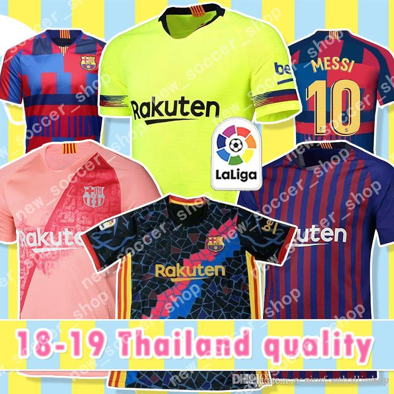 7af3a599304 2019 Thailand Quality Barcelona Jerseys 10 Messi 9 Suárez 7 14 Coutinho Men  Kids Kits Women Football Uniforms 18 19 Away Home Soccer Jerseys From ...