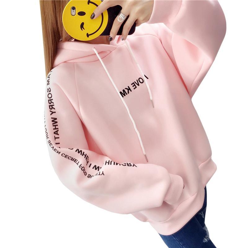 Hoodies & Sweatshirts Sweatshirt 2019 Women Girl Rabbit Print Kawaii Long Sleeve Casual Crop Clothes Sweatshirt Tops Moleton Sudaderas Mujer Tt