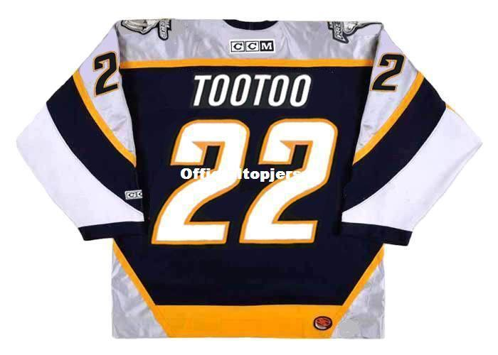 406d5e0d0 2019 Custom Mens JORDIN TOOTOO Nashville Predators 2006 CCM Cheap Retro Hockey  Jersey From Officialtopjersey