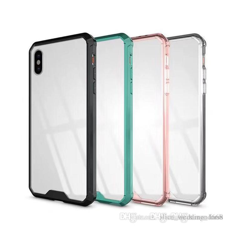 Armor Transparent Clear Air Hybrid Phone Case para iPhone 6 7 8 Plus X XS Samsung Note 9 S8 S9 S10 Plus TPU parachoques cubierta