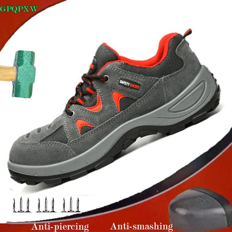 antideslizantes transpirable Calzado Botas aplastantes trabajo Zapatos seguridad gamuza de de transpirable para cuero hombre anti de de antipinchazos YmIv6gfyb7