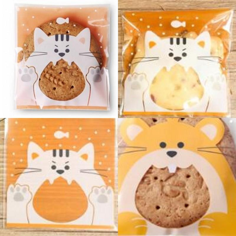 Ornaments Packing Bag Squirrel Owl Cat Pattern Biscuit Packaging Bags Mini Lovely Animal Patterns Snacks Sack New Arrival 3mz L1