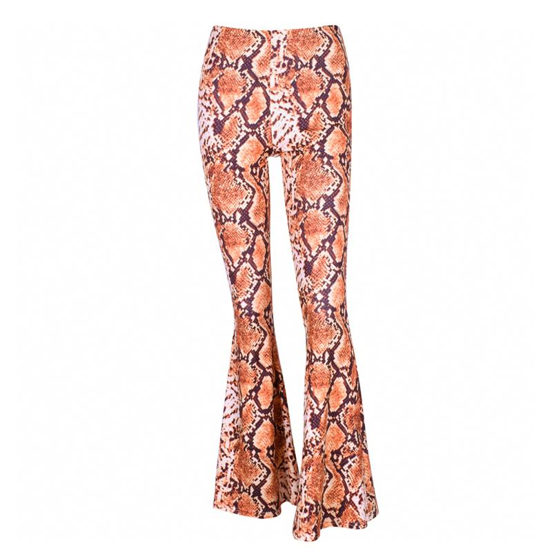 e807db256cc Acheter Pantalon Warp Femmes Motif Peau De Serpent Large Jambe Flare  Leggings Élasticité Taille Pantalon Printemps Femme Mode Partie Slim  Pantalon De  12.59 ...