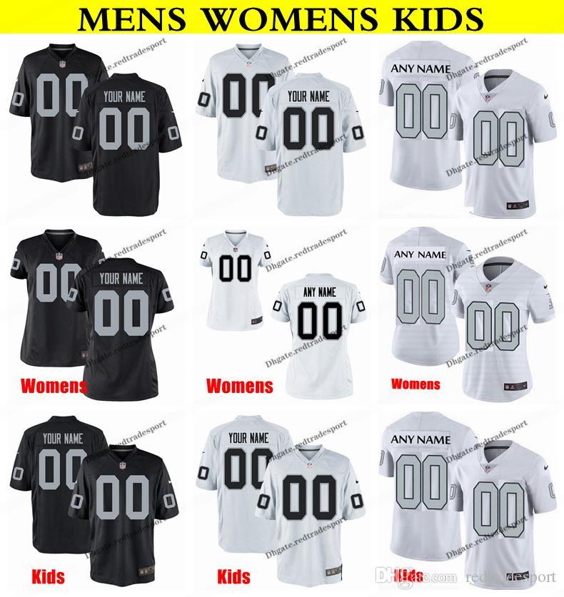 online retailer 3a3fa 52a99 Customize Oakland Mens Womens Kids Raiders 10 Seth Roberts 28 Doug Martin  42 Karl Joseph 25 Erik Harris 21 Gareon Conley Football Jersey