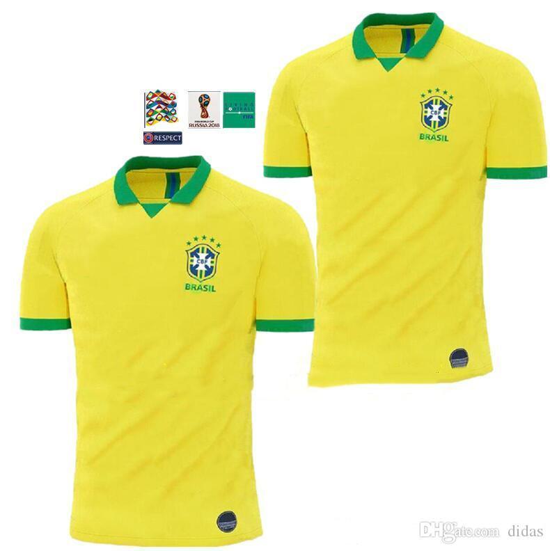 19 20 Selección Nacional De Brasil COUTINHO Soccer Jersey 2019 2020 Brasil  MARCELO WILLIAN Football Jersey PAULINHO Camiseta De Fútbol G.JESUS Soccer  Por ... 1584f9274a914