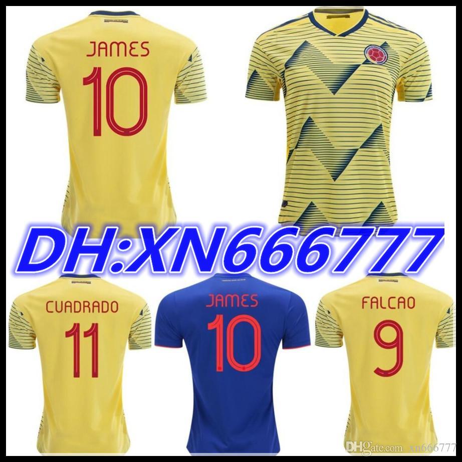 764cdaaaf307f 2019 2020 Colombia JAMES FALCAO Camisetas De Fútbol 19 20 Cop America Kit  De Camisetas De Fútbol Rodriguez CUADRADO Camiseta Maillot De Foot Por  Xn666777