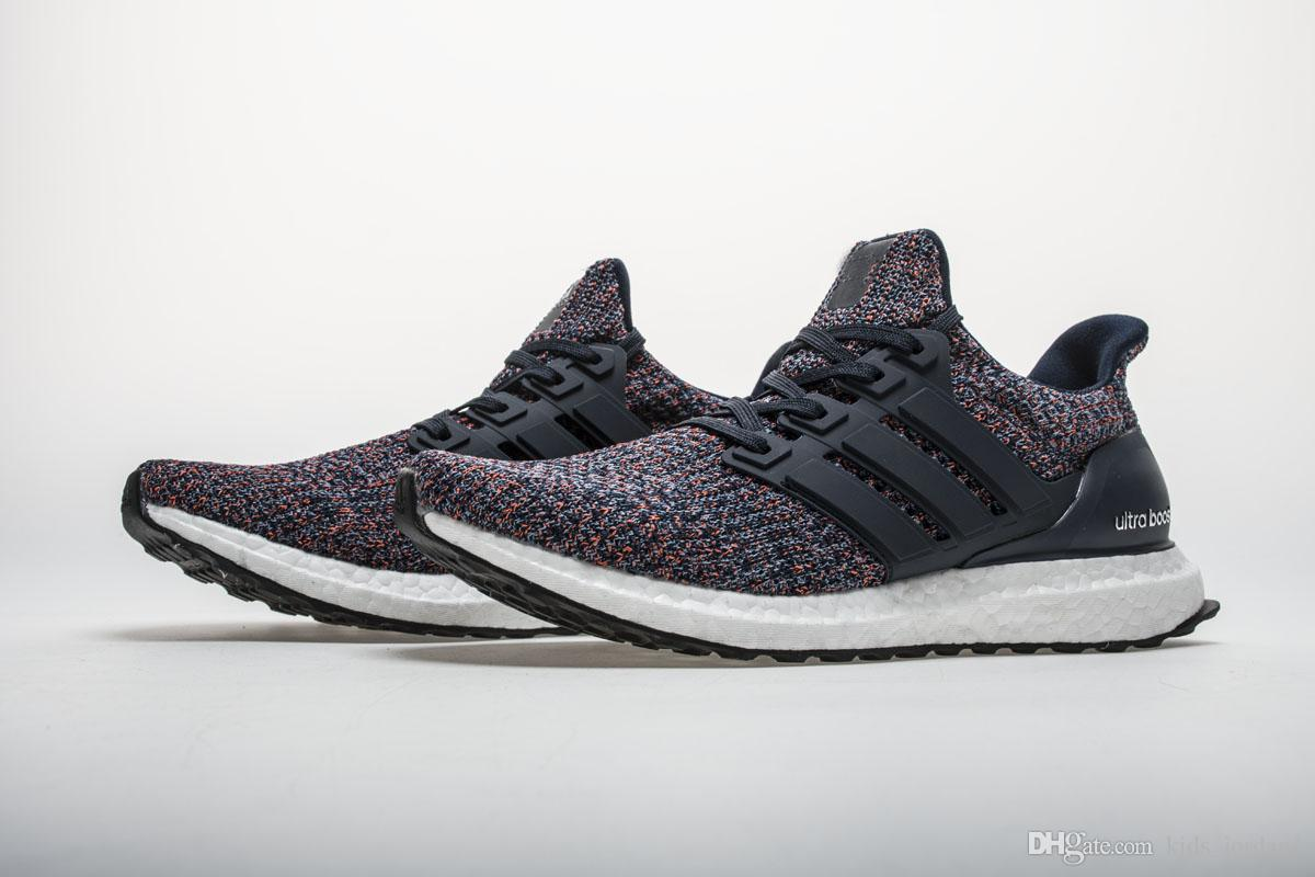 38ff063e83a60 2018 New Best Quality Ultra Boost 4.0 Navy Multicolor Fashion Ultraboost  Athletic Sneaker Sports Shoes For Men Women Kids Tennis Shoes Online Kids  Stability ...