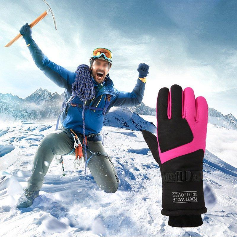 d31f36feab2f 2019 Men S Ski Gloves Fleece Snowboard Gloves Snowmobile Motorcycle Riding  Winter Windproof Waterproof Unisex Snow From Peachguo