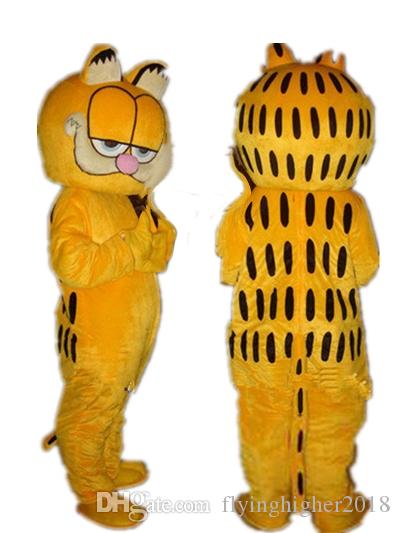 d799ead9a Professional Custom Garfield Cat Mascot Costume Cartoon Yellow Cat Character  Clothes Halloween Festival Party Fancy Dress Jester Costume Indian Costumes  ...