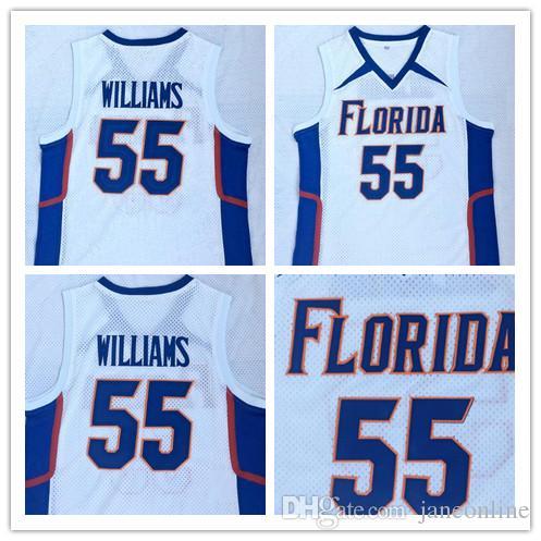 online store 0de7d d47f2 Florida Gators JASON WILLIAMS 55 basketball jerseys Stitched Embroidery  jerseys White WILLIAMS College Jerseys New